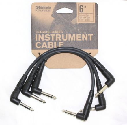 "D'Addario Instrument Cable 1/4"" to 1/3"" (RA) 0.15M - 3 Pack PW-CGTP-305"